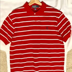 Ralph Lauren polo Men's Large Red with White
